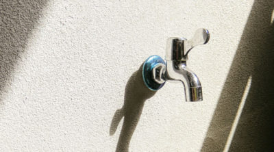outdoor faucet installed by plumbers in tucson