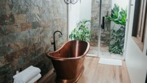 beautiful copper bathtub installed by tampa bay plumbers